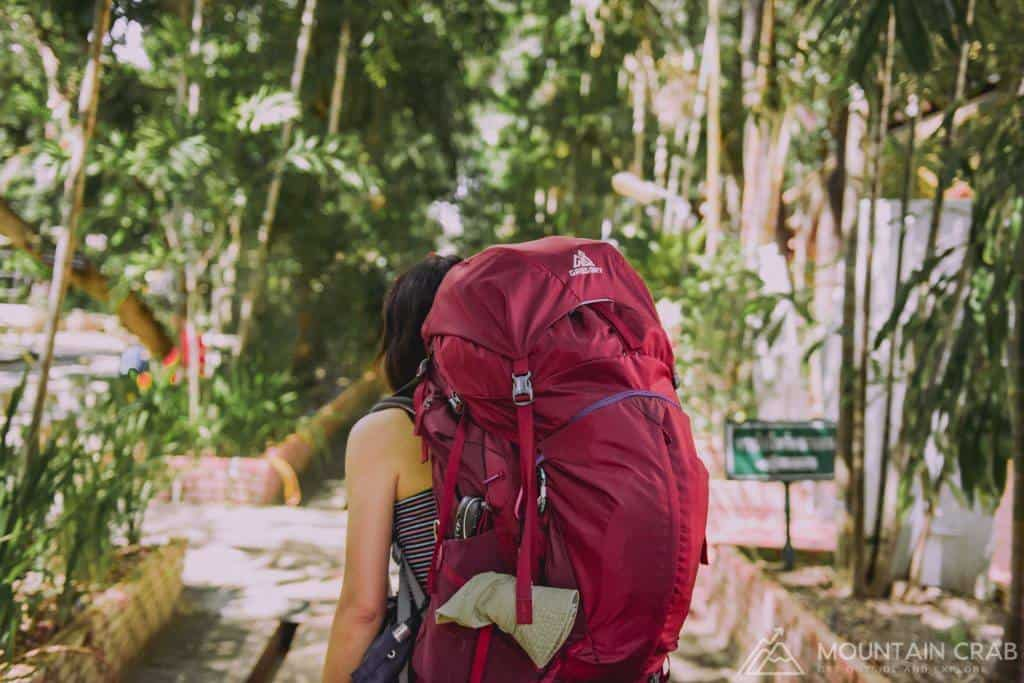 Make sure your hiking backpack supports your back properly.